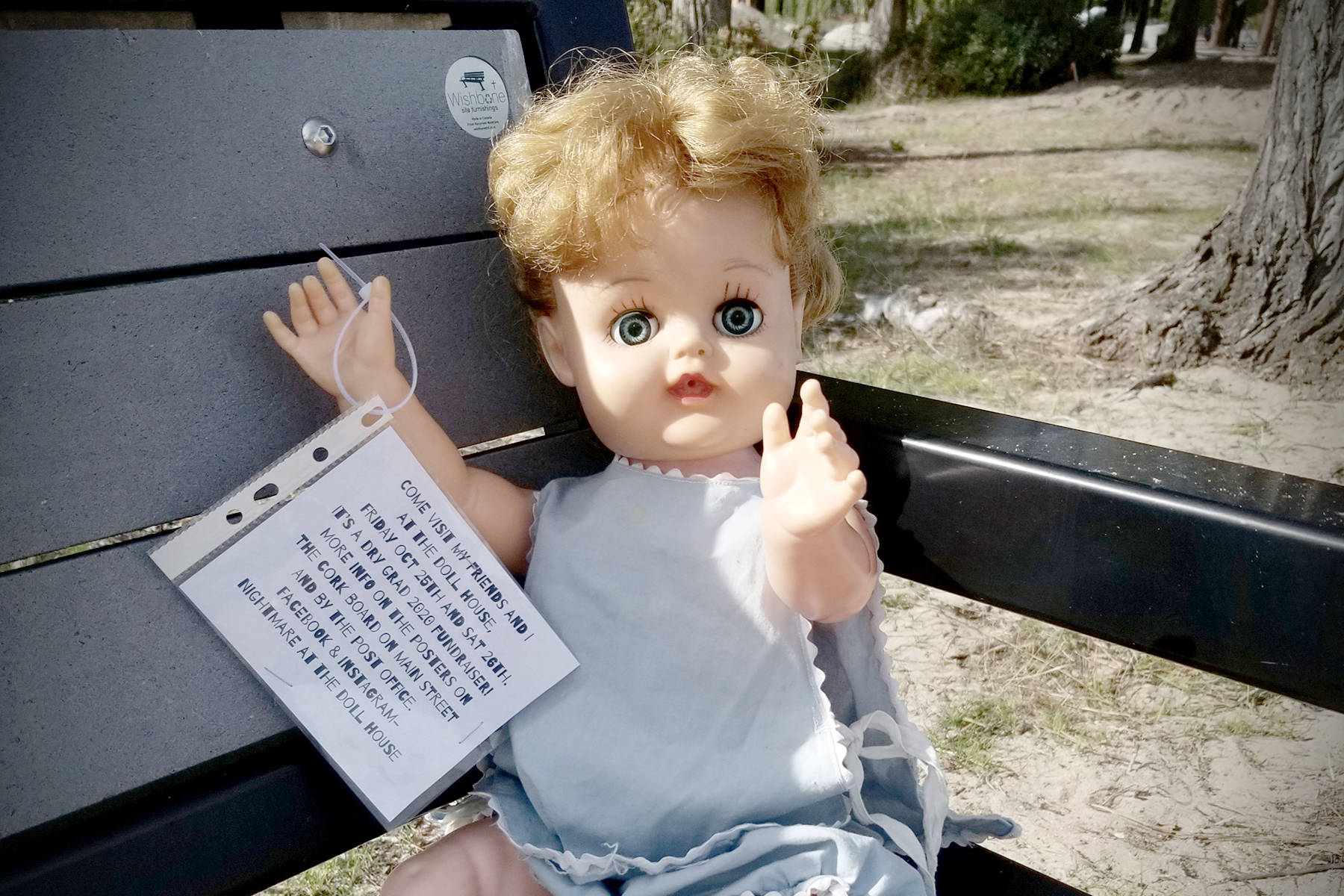 CREEPY DOLLS                                Dolls are lurking around Summerland as a haunted doll museum will be open to the public later this month. The Halloween-themed fundraiser will benefit Summerland Dry Grad 2020.                                (Photo submitted)